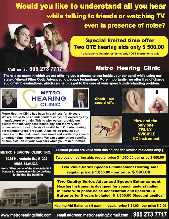 Newsletter 07.2013 | Metro Hearing and Tinnitus Treatment Centre